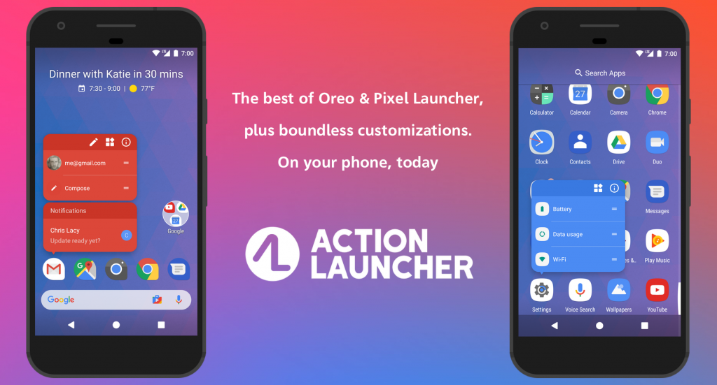 Action Launcher - Best Android Themes Worth Giving a Try