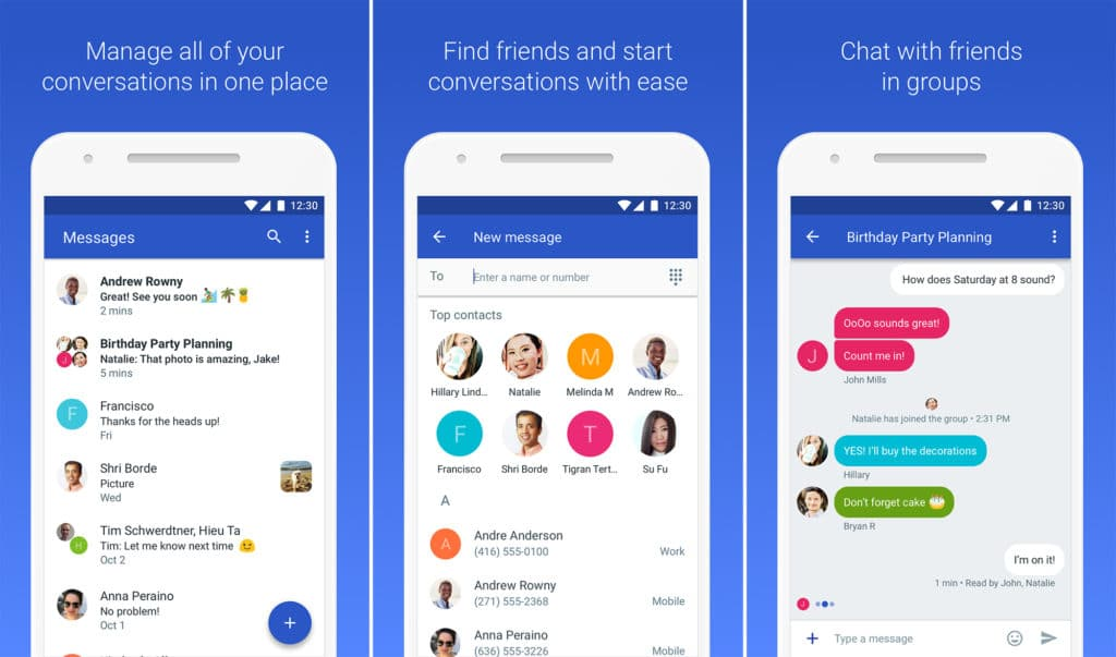Android Messages - Best SMS App for Android 10 Text Messaging Apps for Android