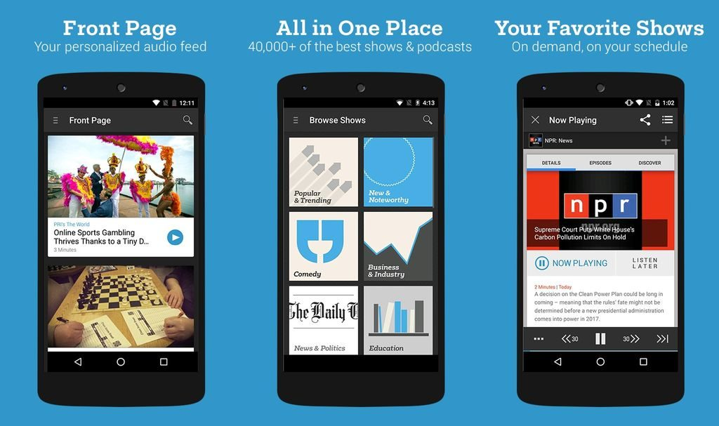 Stitcher - Best Apps for Podcasts for Android and iPhone 5 Best Podcast Apps