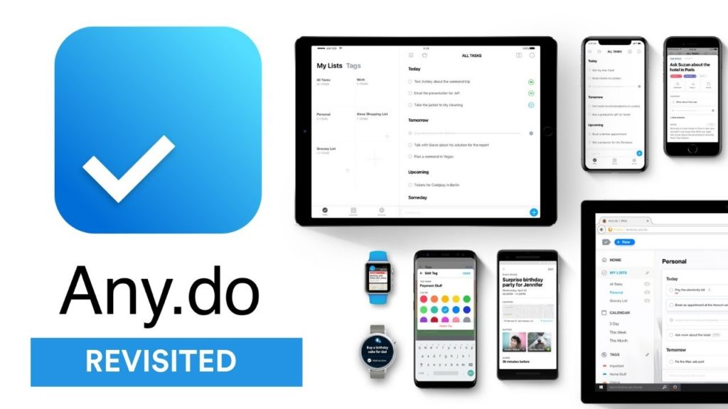 Any do - Top Planner App for iPhone and Android
