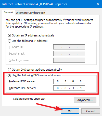 Change DNS to Google DNS - Fix dns_probe_finished_no_internet Error Quickly