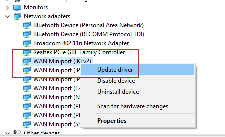 Update your Network Adapter Driver - Fix dns_probe_finished_no_internet Error Quickly