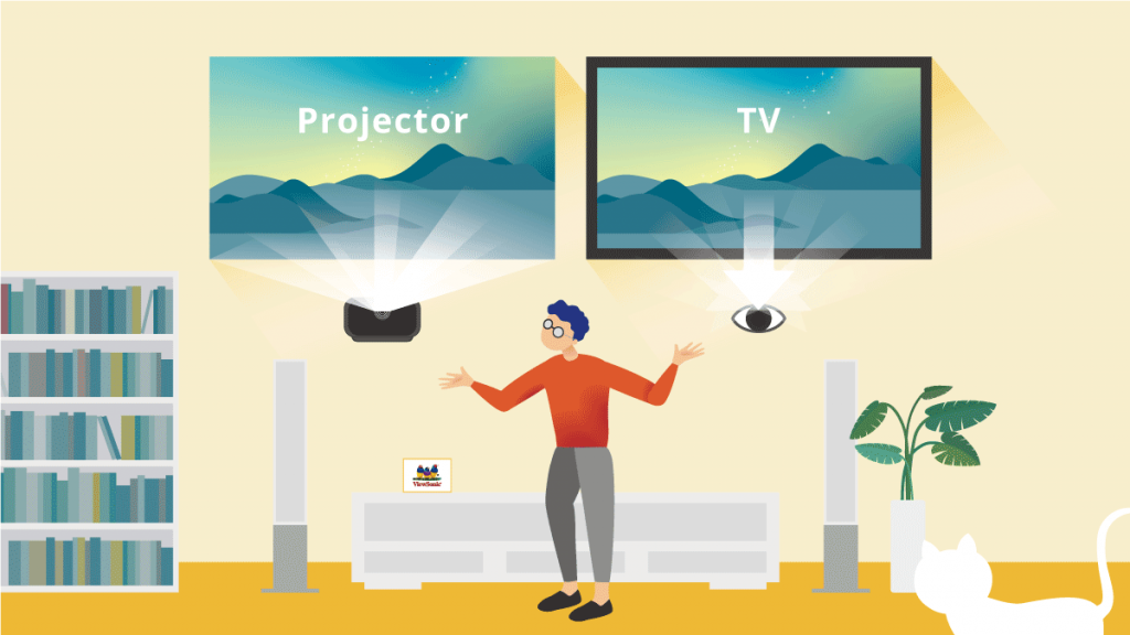 Are projectors better than TV